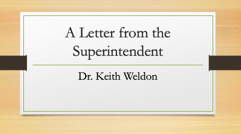 Winter 2020 Letter from the Superintendent