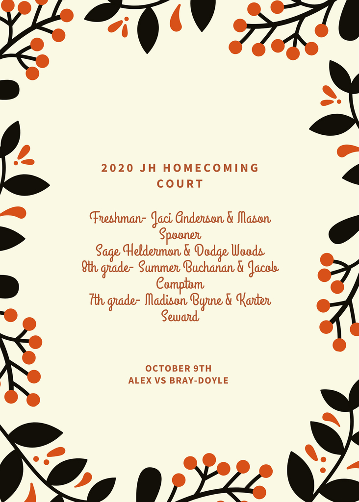 JH Homecoming Court