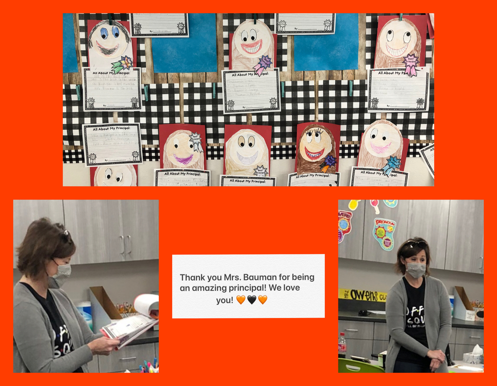 Thank you Mrs. Bauman for all you do! 🧡🖤🧡🖤