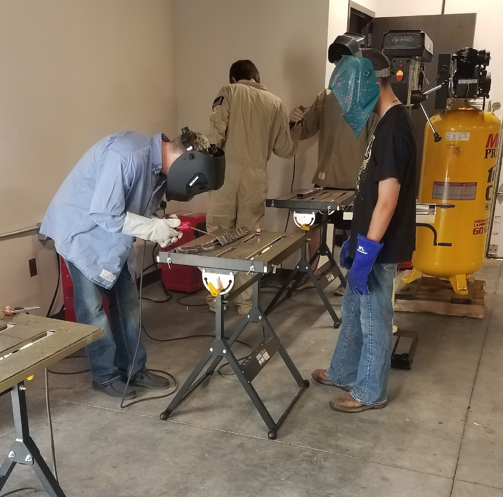 Arc welding using 6011, 6013 and 7018