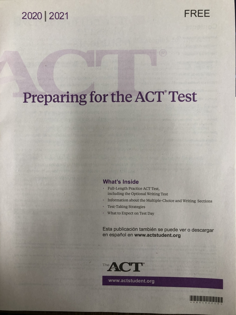 ACT booklet